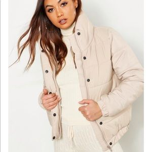 Beige puff coat - like new!!